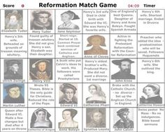 Reformation Match Game Reformation History, Reformation Sunday, Tudor History, British History, Martin Luther Reformation, Celebration 2017, Renaissance And Reformation, 50 Anniversary, Bible Teachings