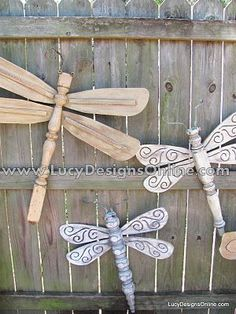 How cool! Fan blades + table legs = fireflies! @Erin Shepherd here is what you can do with those spindles!