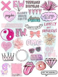 Set 12. Tumblr Stickers. Stickers. Set of by BestStickersClub