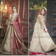 Traditional or moderan look? Pakistani Wedding Outfits, Bridal Outfits, Pakistani Dresses, Beautiful Dresses For Women, Nice Dresses, Awesome Dresses, Asian Bridal Wear, Western Wear Dresses, Bridal Mehndi Dresses