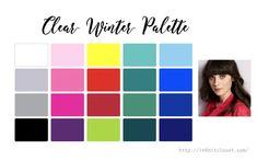 Clear Winter Palette (Bright Winter, Clear Cool) | InfinitCloset