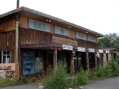 From our American Land Art Tour, September 2012. 'Back In Time' run down shop, Quemado, New Mexico, U.S.