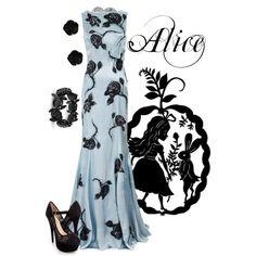 """Alice"" formal gown by alyssa-eatinger on Polyvore - Alice in Wonderland"