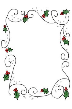 rectangular holly border with swirls Christmas Border, Christmas Frames, Noel Christmas, Christmas Paper, Christmas Colors, All Things Christmas, Christmas Graphics, Christmas Clipart, Christmas Printables