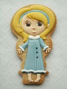 Alice in Wonderland Cookie~    By Honey Cat Cookies, Blue Dress