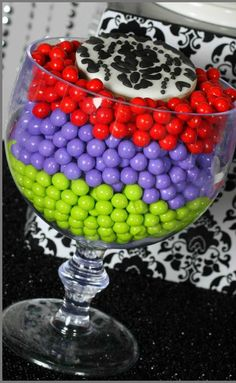 Disney villains party candy!  See more party planning ideas at CatchMyParty.com!