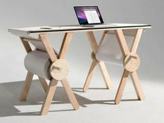 tall work table that can be drawn on--great for sketching ideas and doesn't permanently change the room at all!