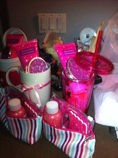 put together these baby shower gifts for the game winners easy cute and inexpensive