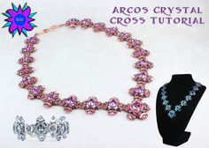 Arcos Crystal Cross Necklace Bracelet Set by DesertStarCreations