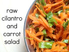 Cooking with Books: Eating Raw: Cilantro & Carrot Salad