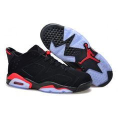 competitive price be3d5 3ab8b authentic air jordan 6 mens retro low black infrared 23 red Jordans For  Men, Cheap
