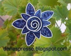 broche nespresso.flor  pendientes collares bisuteria