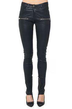 Leather Skinny Pant - Black