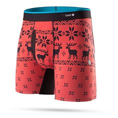 Stance Mens Reindeer Gangs Boxers Underwear Large Red ** You can find more details by visiting the image link.Note:It is affiliate link to Amazon.