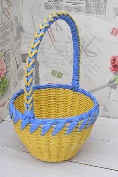(44) Одноклассники Newspaper Basket, Rolled Paper, Wonderwall, Basket Weaving, Tape, Crochet, Diy, Craft, Hampers