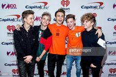 Daniel Seavey, Corbyn Besson, Jonah Marais, Zach Herron and Jack Avery of Why Don't We attend Z100's iHeartRadio Jingle Ball 2017 at Madison Square Garden on December 8, 2017 in New York City.