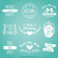 Lovely wedding badges in white color Premium Vector Wedding Menu Template, Wedding Invitation Card Template, Wedding Badges, Pink And White Background, The Wedding Date, Wedding Card Design, Writing Styles, Drawing Skills, Free Logo