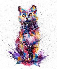 Watercolor cat  https://www.facebook.com/veriapriyatno/photos/a.10153973296354903.1073742103.236259044902/10153973296934903/?type=3