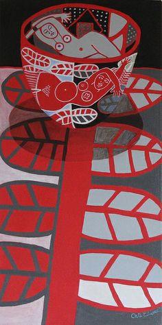 Cate Edwards on flicker, wonderful whimsical print media Still Life Art, Australian Artists, Collages, Gravure, Teaching Art, Oeuvre D'art, Love Art, Graphic Illustration, Painting & Drawing
