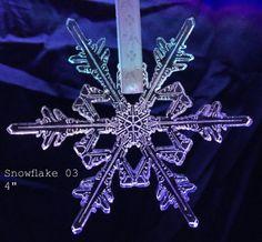 Laser Cut Acrylic Snowflake Ornaments Snowflake 03 by LaserChimps