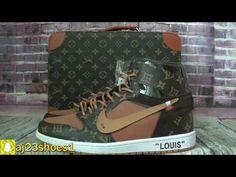 Off White X Louiis Vuiitton Nike Air Jordan 1 With Suitcase HD Review F.. 7432abbca