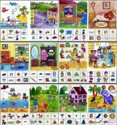 Imprimibles e Ideas! English Activities, Sorting Activities, Preschool Worksheets, Preschool Activities, Speech Language Therapy, Speech Therapy, Teaching Kids, Kids Learning, Autism Education