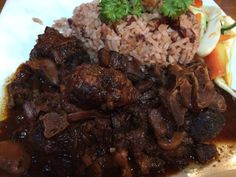 """Chef Mary Ross from SelectHealth abutting us with a fast and alien broiled access you can accomplish in 30 account or less![[caption id="""""""" align=""""aligncenter"""" Jamaican Recipes Chicken Jamaican Oxtail, Jamaican Cuisine, Jamaican Dishes, Jamaican Recipes, Jamaican Restaurant, Oxtail Recipes, Beef Recipes, Soup Recipes, Vegetarian Recipes"""