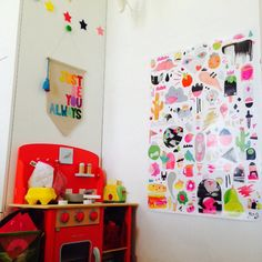 Colourful energetic play area by Bright Kids Interiors