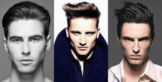 Men's Diamond Face Shape Hairstyle Examples