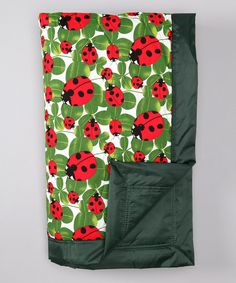 Look what I found on #zulily! Green Ladybug Outdoor Blanket by Tuffo #zulilyfinds