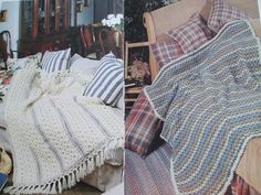 Second Silver - 738 colourful Afghans crochet patterns Worsted Canadiana Patons