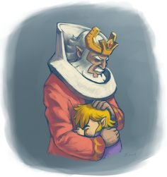 Saying farewell to the King of Red Lions<<<<[SPOILER ALERT] This was the saddest part in the game for me. Link sailed for (presumably) MONTHS across the Great Sea. Who would he come to know better than anyone else? His talking boat.  And then he completed his quest; Hyrule washed away as a result. Think how much guilt he would feel as a result. :'''''(