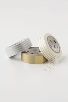 Gold + Silver Washi Paper Tape - Anthropologie.com