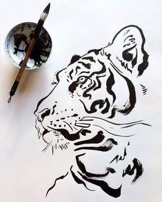 Get tiger drawing HD Wallpaper [] asugio-wall.tech - Get tiger drawing HD Wallpaper [] asugio-wall.tech Get tiger drawing HD Wallpaper [] asugio-wall. Animal Sketches, Art Drawings Sketches, Easy Animal Drawings, Tiger Sketch, Tiger Illustration, Ink Art, Japanese Art, Painting & Drawing, Tiger Painting