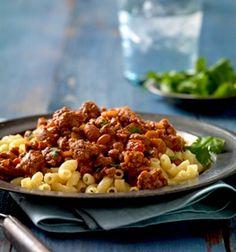 Recipe: Easy Skillet Chili Mac (using chili beans and chunky salsa) - Recipelink.com