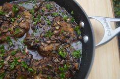 Balsamic Chicken with Butter Mushroom Sauce