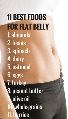 Eating the right foods will play a big part in achieving a flat belly