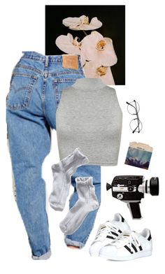 """film"" by paper-freckles ❤ liked on Polyvore featuring WearAll and adidas"