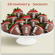 Football strawberries #Chiefs