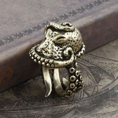 Steam Punk Gothic Ring  Pewter Octopus Jewelry  by FPhoenixStudio, $5.99