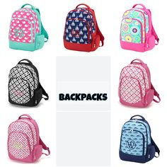 Monogrammed backpacks! Free monogramming! $28.00 Get yours at hanginbythreadz.etsy.com