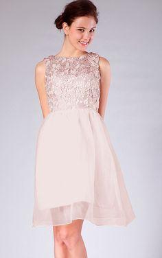 Natural Jewel Zipper Sleeveless Organza Bridesmaid Dresses