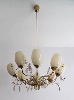 Paavo Tynell, Large Chandelier, Model 9029/8, Oy Taito Ab | From a unique collection of antique and modern chandeliers and pendants  at https://www.1stdibs.com/furniture/lighting/chandeliers-pendant-lights/