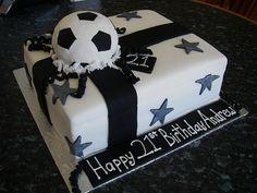 soccer present cake