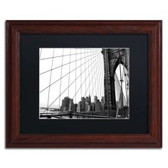 'Brooklyn Bridge 4' by CATeyes Framed Photographic Print