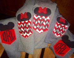 Minnie and Mickey Mouse pocket tees - cute for the whole family!