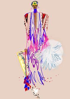 Illustrations - Anjelica Roselyn Fashion Illustration Sketches, Illustration Artists, Fashion Sketches, Sketchbook Inspiration, Art Sketchbook, Silhouette Mode, Patron Vintage, Fashion Art, Fashion Design