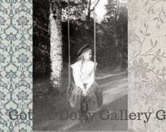 Vintage Etsy Shop Banner Set featuring a beautiful Victorian girl on a swing and vintage patterns. Vintage Patterns, Etsy Vintage, Whimsical, Unique Jewelry, Gothic, Handmade Gifts, Banner, Etsy Seller, Victorian