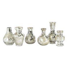 Set of 6 Mercury Bud Vases | Ballard Designs $59