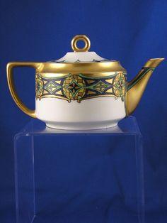 Rosenthal Empire Bavaria Arts & Crafts Tea Pot (c.1907-1940) from darkflowers on Ruby Lane